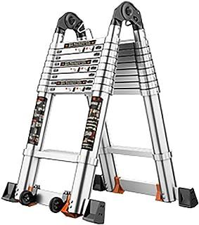 Ladders,Aluminum Double Telescopic a Ladder Loft Extension Extend Portable Ladder Foldable Ladder Telescoping Steps Ladder...