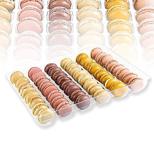 "Macarons Mischung ""Frühling/Sommer"" Ø 4cm, 6 Sorten je 8 Stück, TK, Bridor, 576g. 48x12g."