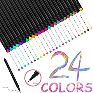 J.N Colored Pens Fine Point Markers Fine Tip Drawing Pens for Bullet Journaling Writing Note Taking Calendar Coloring Art ...