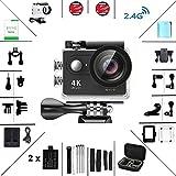 Action Kamera 4K HD Wifi Sport Kamera mit Zubehr-Kit 2.0 LCD Wifi Sport Kamera 30M 1080P 60fps 170...