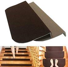 Non Slip Carpet Stair Treads Rug mats,Non-slip Adhesive Carpet Stair Treads Mats Staircase Step Rug Stair Protection Cover...