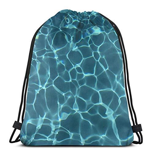 Almost-Okay-Shop Kordelzug Rucksack Taschen Pool Wasser Tumblr Textur Adult Lightweight Sport Gym String Storage Sackpack