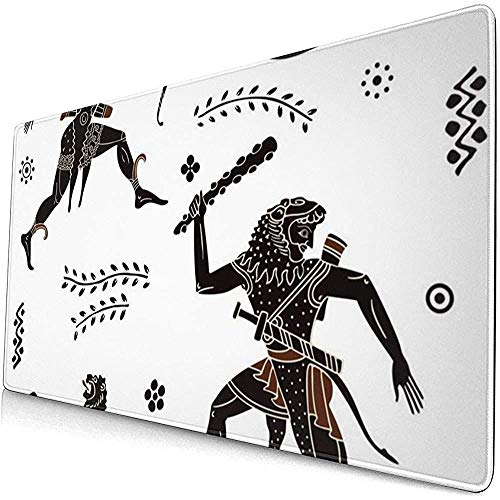 Oud Grieks Symbool Extended Gaming Mouse Pad, Dikke Grote Computer Toetsenbord Muismat