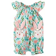 Lywey 0-3 Years Old Autumn Baby Kids Toddler Girl Cute Rabbit Bandage Suit Mini Dress 3-8M, Pink