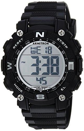 Armitron Sport Women's Quartz Fitness Watch with Resin Strap, Black, 28.85 (Model: 45/7099BLK)