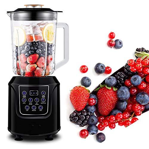 ONINO Standmixer, Smoothie Maker Mixer 1,5L Glasbehälter Power Blender mit LED Anzeige Edelstahl Hochleistungsmixer 700 Watt BPA-Frei Impulsfunktion Ice-Crusher - Schwarz
