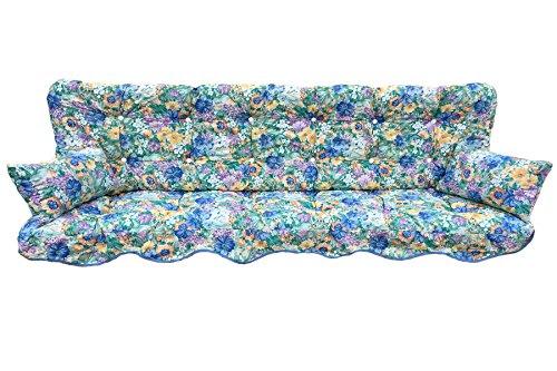 Polsterauflage Hollywoodschaukelauflage Modell 939 Blumen (180 x 50 cm Hollywoodschaukelauflage)