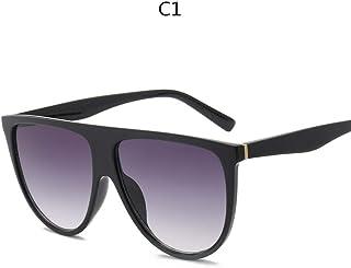 75934ed409 ZHOUYF Gafas de Sol Kim Kardashian Gafas De Sol Mujer Vintage Retro Tapa Plana  Gafas De