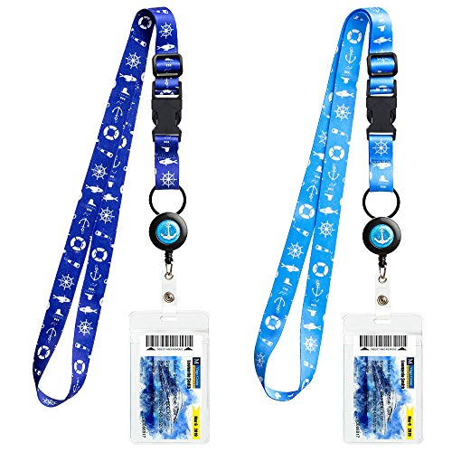 Cruise Lanyards, Adjustable Lanyard with Retractable Reel, Waterproof ID Badge Holder for All Cruises Ships Key Cards, 2pack …