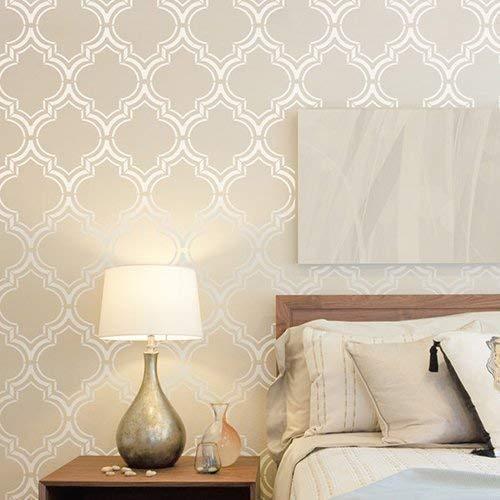 STENCILIT Marokkanische Wandschablone Groß - Wanddekoration Wohnzimmer - Wandschablone Kinderzimmer - Stencil Schablonen Wand - Schablone Wand