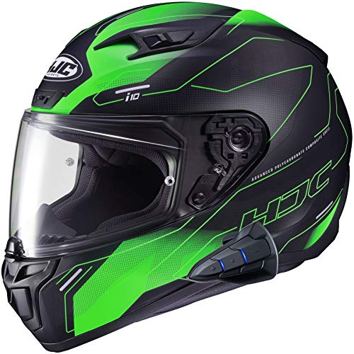 HJC i10 Full Face Helmet Snell 2020 with Sena Smart HJC Bluetooth Headset Taze MC4SF Small
