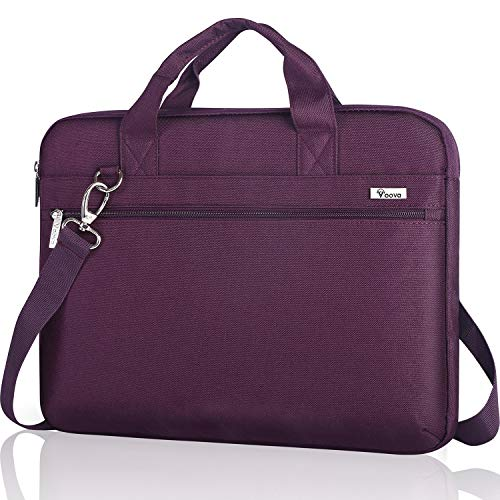 Voova Laptop Sleeve Bag 17-17.3 Inch Carrying Case,360° Protective Computer Bag Compatible with Razer Blade Pro 17,Lenovo Asus Acer Dell Hp Notebook with Shoulder Strap for Men Women,Waterproof,Purple