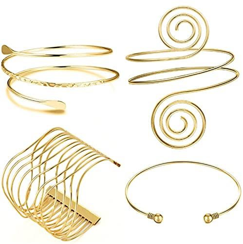 Miugwp 4 piezas de brazalete de apertura joyería de moda para mujeres mamá novia cumpleaños regalos de Navidad