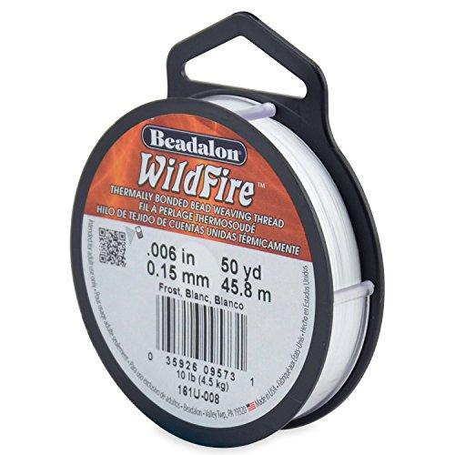 Wildfire Perlenschnur, thermisch gebunden, 0,15mm, 45,7m lang, Weiß