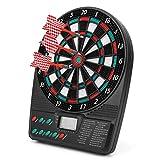 SALUTUYA Automatische Wertung Dartscheibe Stabile automatische Dartscheibe Dartplatte Spiele...