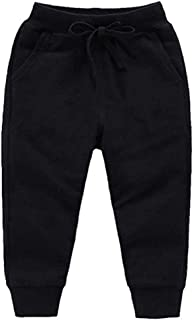 HAXICO Unisex Kids Solid Cotton Drawstring Waist Winter Pants Toddler Baby Bottoms Active Sweatpants