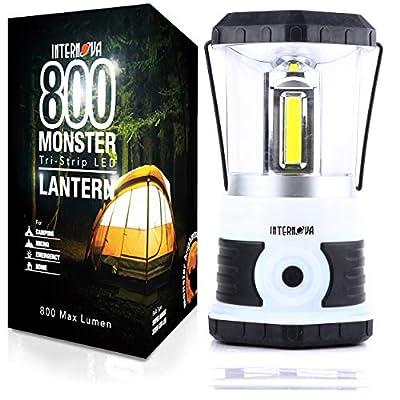 Internova Monster LED Camping Lantern - Battery Powered - Massive Brightness - Perfect for Hurricane - Camp - Emergency Kit (White 800 Lumen)