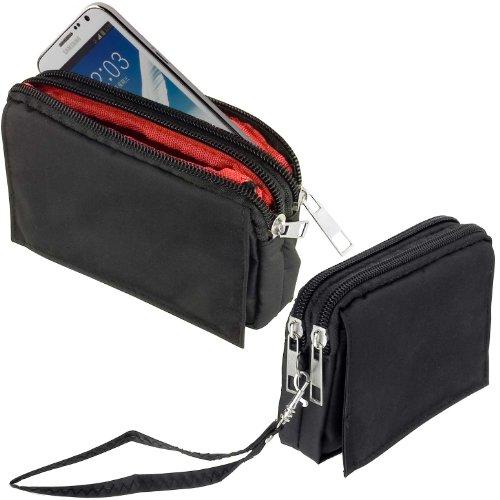 yayago -Travel-Hülle- Quertasche Hülle Tasche in Schwarz für Wiko Pulp 3G / Pulp 4G / Pulp Fever