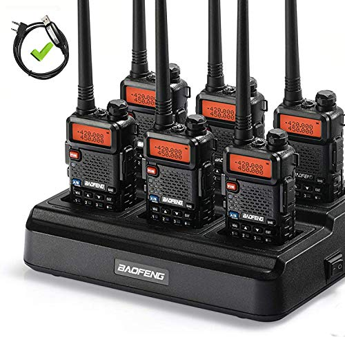 6pcs BAOFENG Upgraded Legal Two Way Radio for Adults Long Range, with Six-Way Charger and Cable, Dual Band 144-148MHz 420-450MHz, Walkie Talkie Rechargeable, Portable Ham Radio, VOX with Earpiece. Buy it now for 139.99