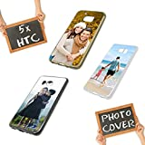 PixiPrints Premium Foto-Handyhülle mit eigenem Foto selbst gestalten, Hüllentyp: Slim-Silikon/Transparent, Kompatibel mit HTC U Play