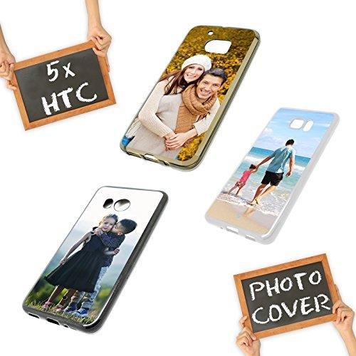 PixiPrints Premium Foto-Handyhülle mit eigenem Foto selbst gestalten, Hüllentyp: Slim-Silikon/Transparent, Kompatibel mit HTC One A9S