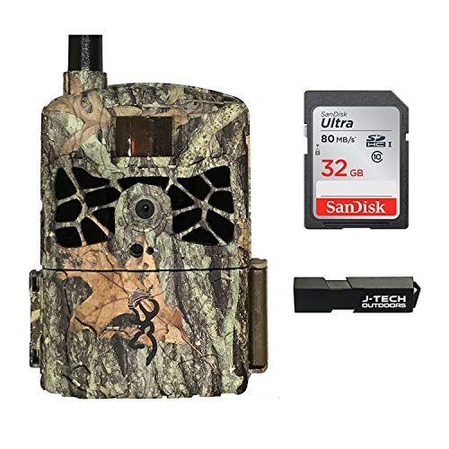 Browning Defender Wireless Cellular Trail Camera (VERIZON) Bundle Includes 32GB Memory Card and J-TECH Card Reader (20MP) | BTCDWC-VZW
