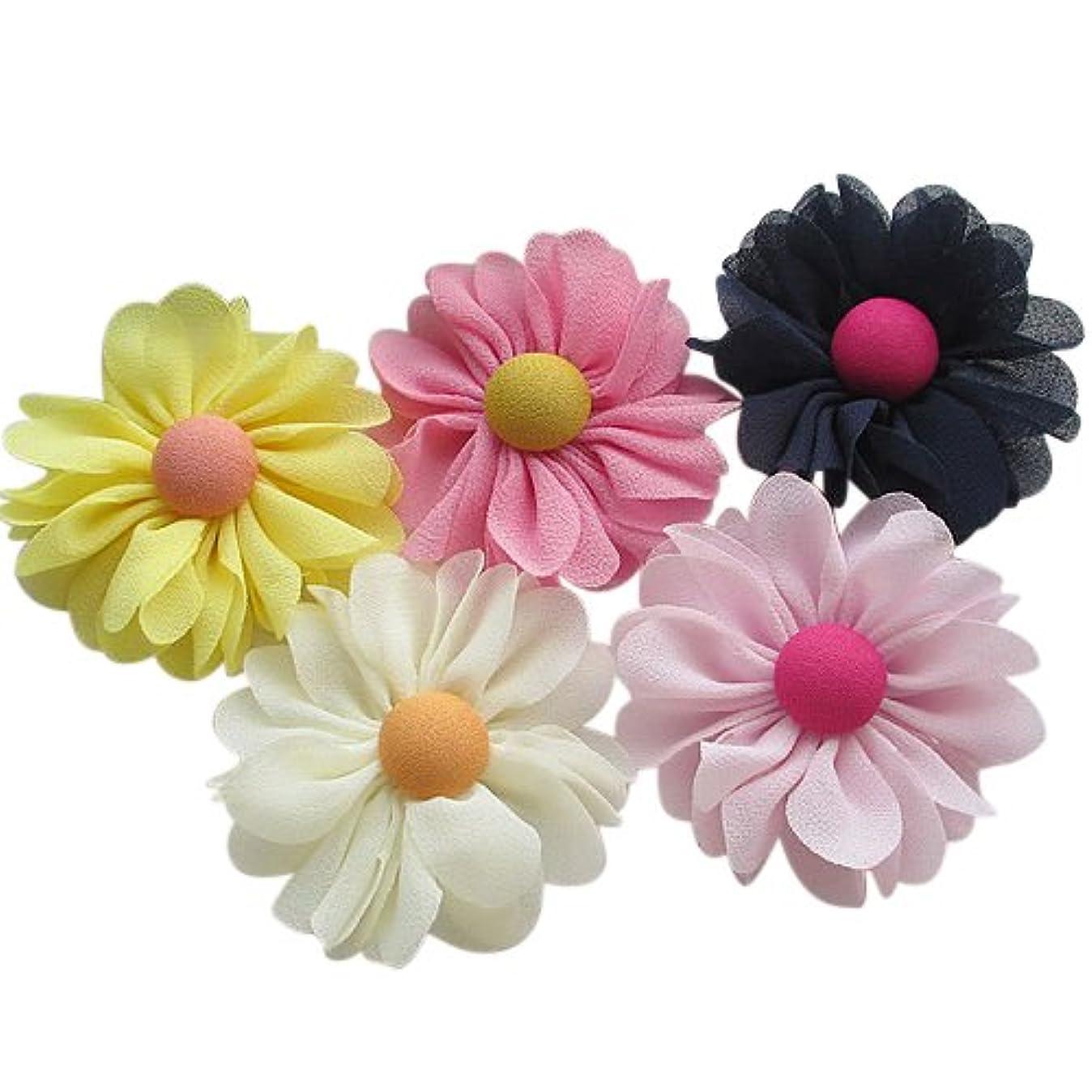 Chenkou Craft 20pcs 60mm New Organza Ribbon Chiffon Flowers Bows Sewing Wedding Decoration (Chiffon Flower(A0389)) l4858685801