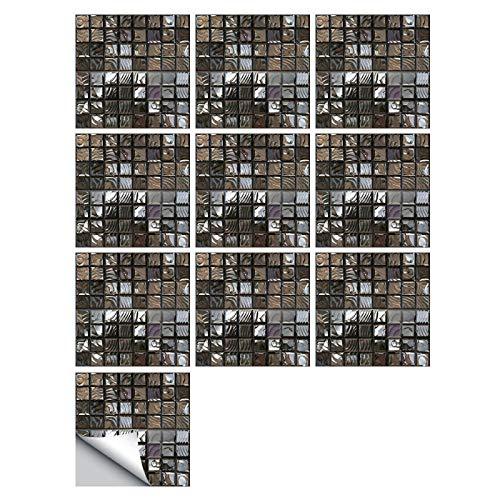 Pegatinas abstractas para azulejos de simulación de mosaico, impermeables, a prueba de aceite, pegatinas de pared para renovación del hogar, cocina, baño, decoración autoadhesiva (4 tamaños)