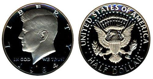 1984 S Gem Proof Kennedy Half Dollar Coin Nippon regular agency Mint Weekly update US 2 DCAM 1