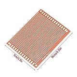 Pretaladrado 7x9cm 10 unids/set prototipo de PCB DIY de un solo lado, placa de circuito universal, limpiada para soldadura DIY