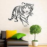 wZUN Rey del Bosque Tigre Bestia Pegatina de Pared Vinilo decoración del hogar depredador Animal calcomanía habitación Mural 44X42cm