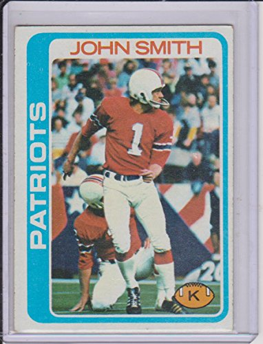 1978 Topps John Smith Patriots Football Card #136