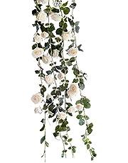 Lumierechat バラ 薔薇 ローズ 造花 シルクフラワー フラワー ガーランド ピンク レッド ホワイト イベント 装飾 デコレーション