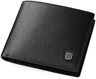 Bostanten Black Leather For Men - Bifold Wallets
