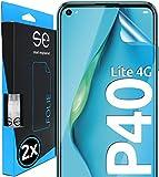 [2 Stück] 3D Schutzfolien kompatibel mit Huawei P40 Lite 4G, hüllenfre&liche durchsichtige HD Bildschirmschutz-Folie, Schutz vor Dreck & Kratzern, kein Schutzglas - smart engineered