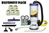 ProTeam Super CoachVac HEPA Commercial Backpack Vacuum w/ Versatile Tool Kit & 2...