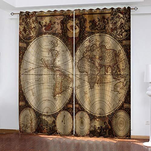 vorhang gardine vorhänge blickdicht Globus Gesamtgröße:104