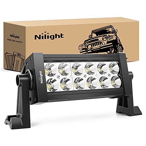 Nilight 36W LED Light Bar Spot LED Lights Led Bar Driving Fog Lights Jeep Off Road Lights