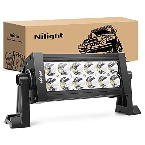 Nilight - 10001S-A 36W LED Light Bar Spot LED Lights Led Bar Driving Fog Lights Jeep Off Road Lights, 2 Years Warranty