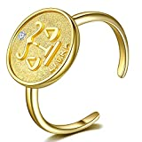 Sternzeichen Waage Ring mit Zirkonia-Stein