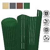 wolketon PVC Sichtschutzmatte Sichtschutzzaun Windschutz Sichtschutz PVC Zaun für Balkon Garten und Terrasse Grün 180x300cm
