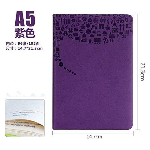 XIAOXINYUAN A5 Ufficio Notebook Stationery Notepad Mano Business Prenota Addensato Diario Libro Studente Notepad. Violetta