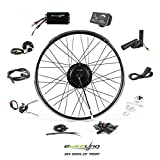 """EBIKELING 36V 500W 26"""" Geared Waterproof Electric Bicycle Front Wheel Ebike Conversion Kit (Front/LED/Thumb)"""