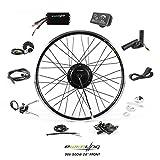 EBIKELING 36V 500W 26' Geared Waterproof Electric Bike Kit - Ebike Conversion Kit - Electric Bike Conversion Kit (Front/LED/Thumb)