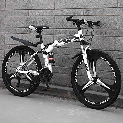 SCF Mountainbike Fahrräder Fahrrad MTB Unisex Falt-Fahrrad, 26 Zoll Mountainbike, Scheibenbremsen Hardtail MTB, Trekkingrad Herren Bike Mädchen-Fahrrad, Vollfederung Mountain Bike