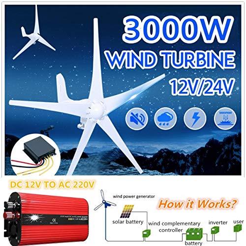 SISHUINIANHUA Wasserdicht Windturbinen-Generator-Laderegler Regulator Auto Wechselrichter Spannungswandler 12V-220V,500w