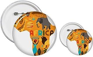 Éléphant de la savane africaine - Kit de création d'épingles, de boutons et de badges