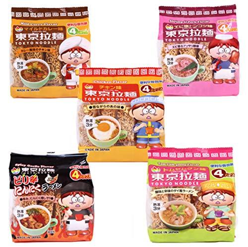 格安 東京拉麺 お椀で食べる 4個パック( 個包装) チキン味 マイルドカレー味 塩とんこつ味 にんにくラーメン トムヤムクン 10袋40食セット お椀付き