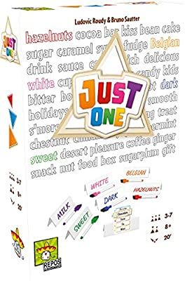 Just One Party Game (White Box) | Cooperative Board Game for Adults and Kids | Fun Games for Family Game Night | Ages 8 and up | 3-7 Players | Average Playtime 20 Minutes | Made by Repos Production