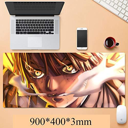 Mauspad Ghost Knife Gaming Mouse Matte Erweiterte rutschfeste Basis, dick, bequem, wasserdicht und faltbar Matte für Desktop, Computer, Laptop, Tastatur-A